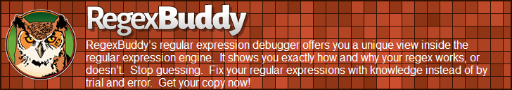RegexBuddy—The best regular expression debugger!