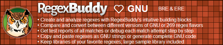 RegexBuddy—The best regex editor and tester for GNU users!