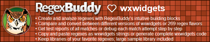 RegexBuddy—The best regex editor and tester for wxWidgets developers!
